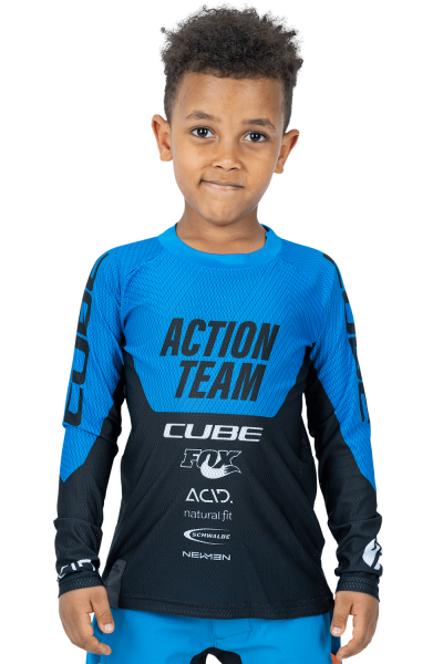 CUBE JUNIOR Trikot langarm X Actionteam